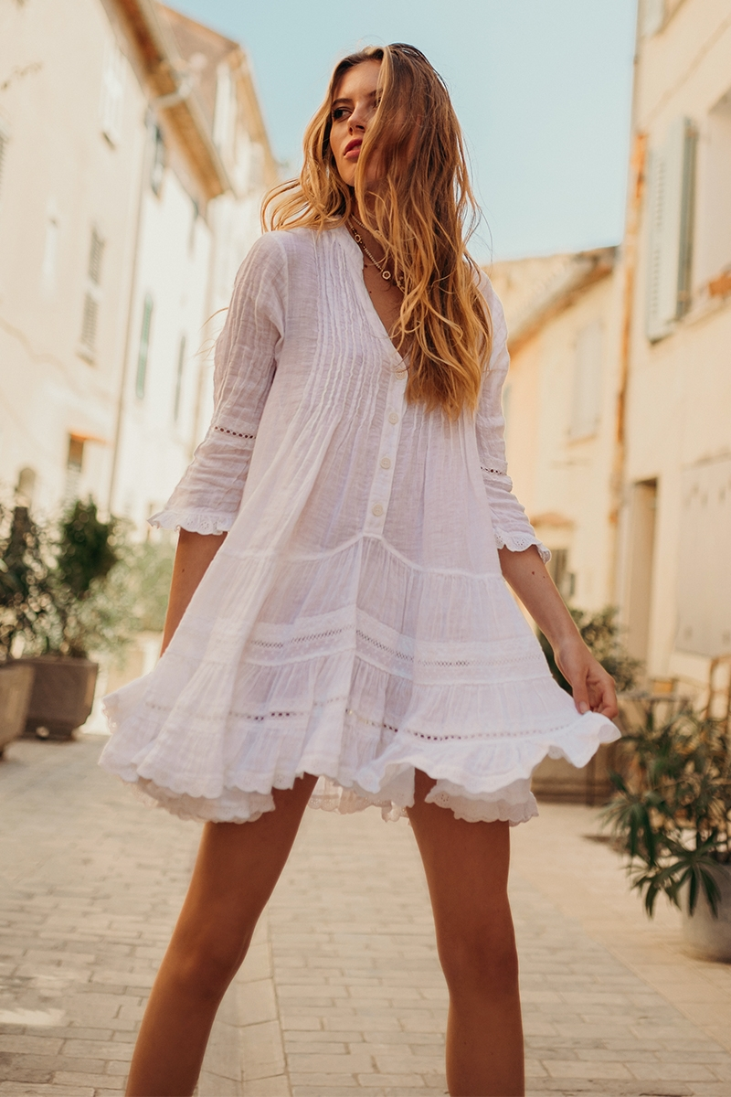 Bella Ciao - Robe - White