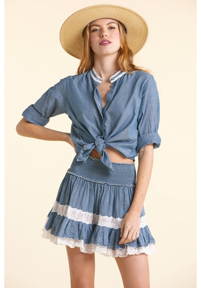 Joan - Shirt - Chambray