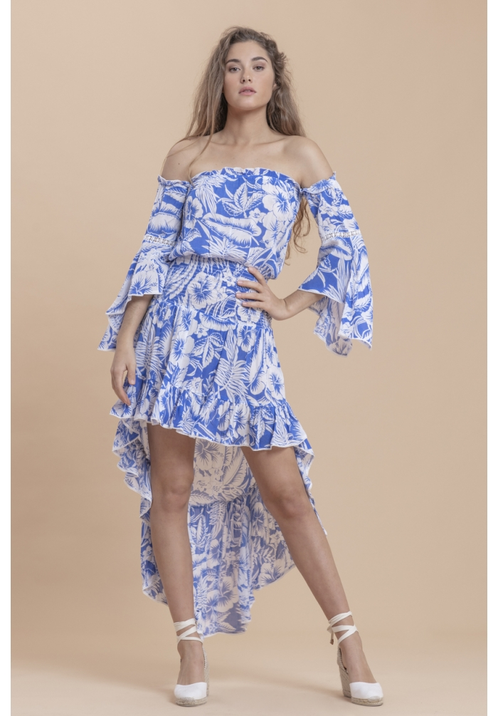 ALINA -DRESS-HAWAI BLUE