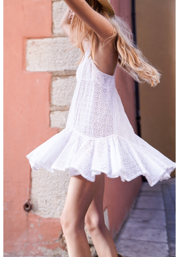 stella - dress - white